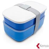 Jogo de Potes em Plástico com 02 Peças Bento Box Azul - Kenya