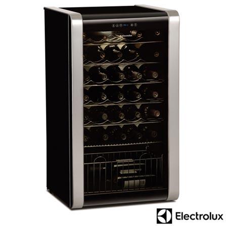 Adega de Vinhos Electrolux para 33 Garrafas com até 18° C - ACS33, 110V, Preto, 12 meses, Electrolux