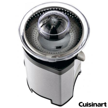 Espremedor de Cítricos Cuisinart em Aço Escovado - CCJ-210BR, 110V, Inox, Spicy, Aço Escovado
