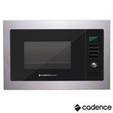 Micro-ondas de Embutir Cadence Gourmet com 25 Litros de Capacidade e Grill Inox - MIC300