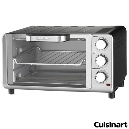 Forno Elétrico Cuisinart para Tostar, Assar e Grelhar com Capacidade de 10 Litros - TOB 80BR, 110V, Aço Escovado, Spicy, Aço Escovado