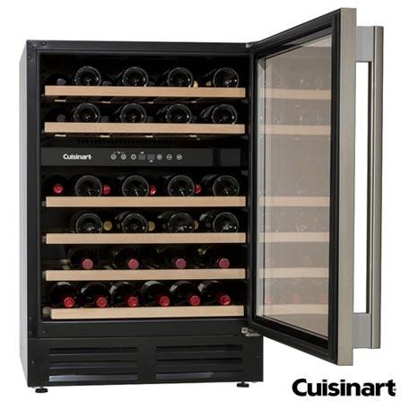 Adega de Vinho Vertical Cuisinart para 46 Garrafas com ate 22 C - BU-145D, 220V, Preto, Spicy