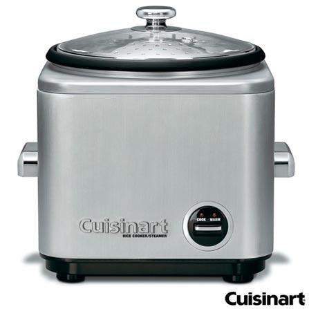 Panela Elétrica para Arroz Cuisinart com Capacidade para 8 Xícaras - CRC800BR, 110V, Inox, Spicy, Aço Escovado, 04 Peças