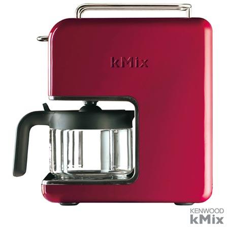 Cafeteira Kenwood kMix Raspberry Vermelha para Cafe em Po - CM021, 110V, Vermelho, 03 meses, Kenwood, 110V - 1000 W e 220V - 1200 W