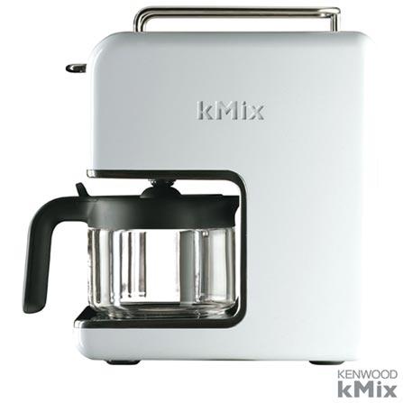 Cafeteira Kenwood kMix Coconut Branca para Cafe em Po - CM020, 110V, Branco, 03 meses, Kenwood, 110V - 1000 W e 220V - 1200 W