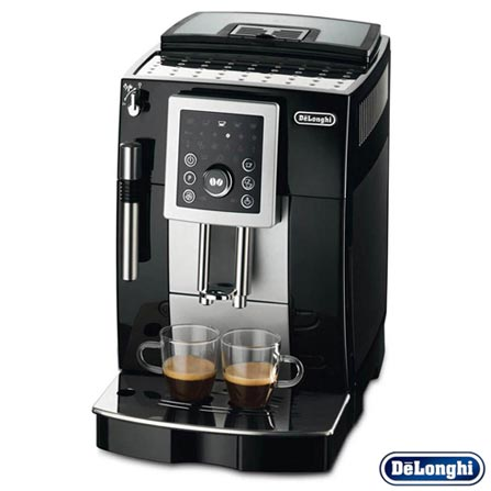 Máquina de Café DeLonghi Superautomática Preta para Café Espresso - ECAM23210B, 110V, Preto, 24 meses, Delonghi, 1450 W