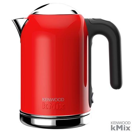 Chaleira Elétrica kMix Kenwood com Capacidade de 1,6 Litros Vermillion Red Vermelha - SJM030RD, 110V, Vermelho, 12 meses, Kenwood, 1600 W