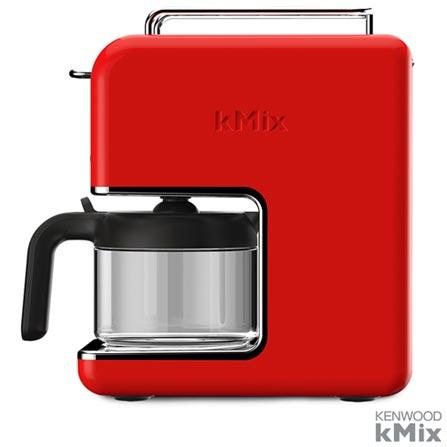 Cafeteira kMix Kenwood Vermelha para Cafe em Po - CM020RD, 110V, Vermelho, 12 meses, Kenwood, 1000 W