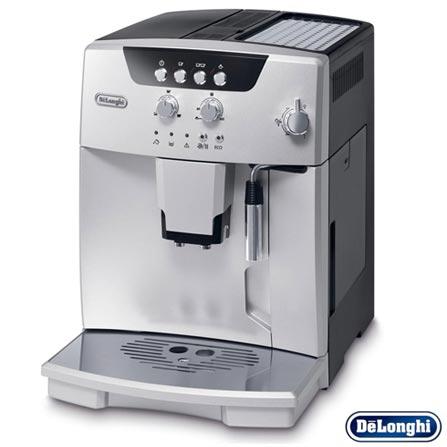 Cafeteira DeLonghi Superautomática Prata e Preta para Café Espresso - ESAM 04.110.S, 220V, Prata e Preto, 12 meses, Delonghi, 1450 W
