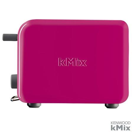Torradeira Eletrica kMix Berry Kenwood com Capacidade para 02 Fatias - TTM029, 110V, 220V, Rosa, 03 meses, Kenwood, 110V - 750 W e 220V - 1000 W