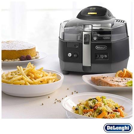 Fritadeira Elétrica DeLonghi Smart Air Fryer Multicuisine - FH1363, 110V, Preto, 12 meses, Delonghi
