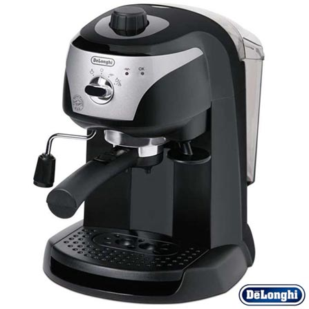 Cafeteira DeLonghi Manual Preta para Café Espresso - EC220CD, 110V, Preto, 12 meses, Delonghi, 1100 W