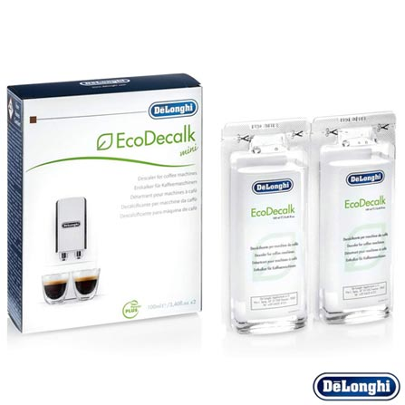 Eco Descalcificante DeLonghi EcoDecalk Mini com 02 Peças de 100 ml Branco, Branco, 03 meses, Delonghi