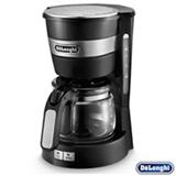 Cafeteira Elétrica Delonghi com Desligamento Automático, Controle Manual e Jarra de Vidro, Preta - ICM14011