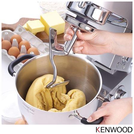 Batedeira Kenwood Cooking Chef com 08 Velocidades - KM080, 110V, Prata, 12 meses, Kenwood, 110V - 1440 W e 220V - 2000 W