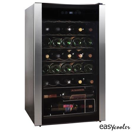 Adega de Vinho Easy Cooler para 34 Garrafas com Ate 18 C - HS-125WE, 110V, Preto, Spicy