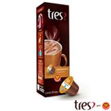 Cápsulas de Chocolate Tres Chocolatto Caramello 10 Unidades para Máquina 3 Corações