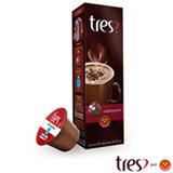 Cápsulas de Chocolate Tres Chocolatto 10 Unidades para Máquina 3 Corações