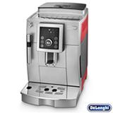 Máquina de Café Delonghi Superautomática Prata e Vermelha para Café Espresso - ECAM23210SR