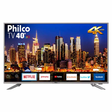 "Tv 40"" Led Philco 4k - Ultra Hd Smart - Ptv40g50sns"