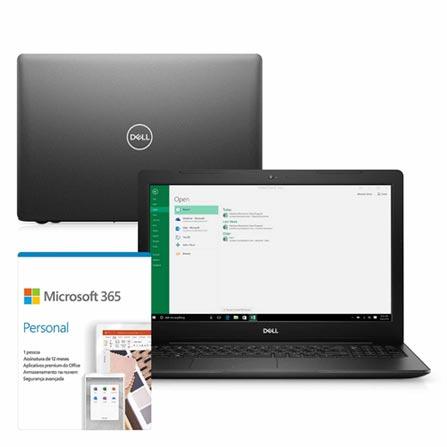 """Notebook - Dell I15-3583-ms80pf I5-8265u 1.60ghz 8gb 256gb Ssd Amd Radeon 520 Windows 10 Home Inspiron 15,6"""" Polegadas"""
