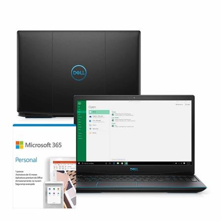 """Notebookgamer - Dell G3-3590-m53p I5-9300h 2.40ghz 8gb 512gb Ssd Geforce Gtx 1650 Windows 10 Home 15,6"""" Polegadas"""