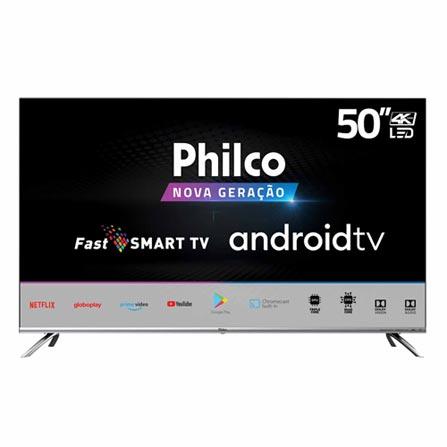 """Tv 50"""" Led Philco 4k - Ultra Hd Smart - Ptv50g71agbls"""