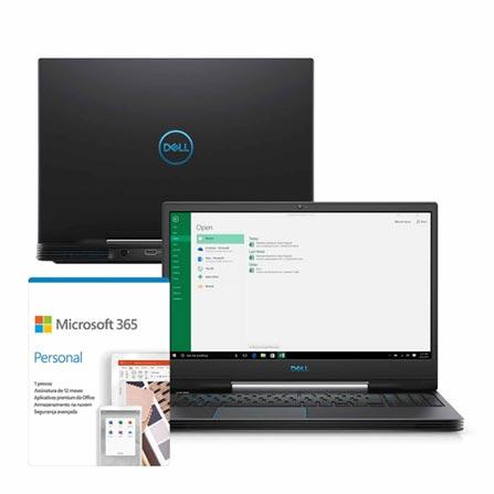 """Notebookgamer - Dell G5-5590-m53p I5-9300h 2.40ghz 8gb 256gb Ssd Geforce Gtx 1650 Windows 10 Home 15,6"""" Polegadas"""