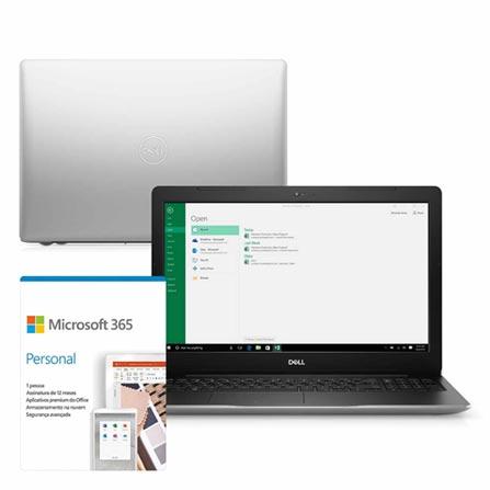"""Notebook - Dell I15-3583-ms110sf I7-8565u 1.80ghz 8gb 128gb Híbrido Amd Radeon 520 Windows 10 Home Inspiron 15,6"""" Polegadas"""