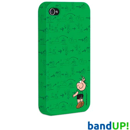 Capa para iPhone 4 / 4S Bandup Cebolinha Plano, Colorido, 03 meses