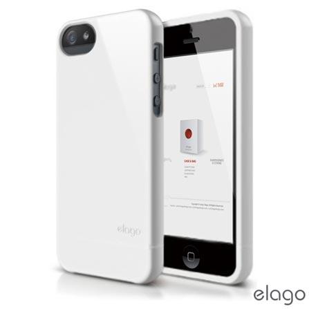 Capa Protetora para Iphone 5, Elago S5Glide Branca + película protetora - EL-S5GL-UVWH-RT, Branco, 12 meses