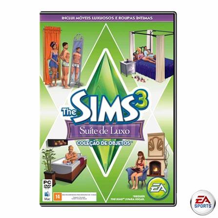 Jogo The Sims 3 Suíte de Luxo para PC, Não se aplica, PC, Simulador, DVD, 14 anos, Não especificado, Não especificado, 01 mês