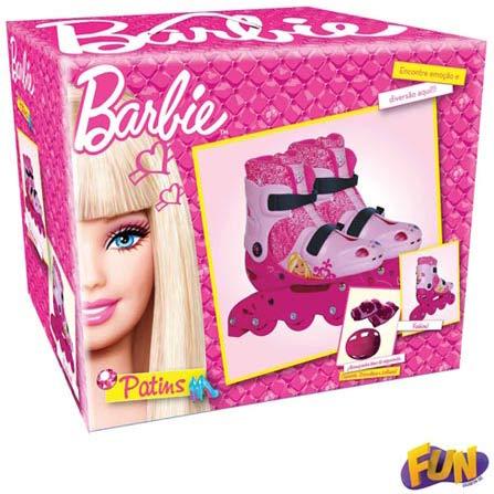 Patins Ajustáveis da Barbie Tamanho 33 ao 36 com Acessórios, BQ, 3 meses