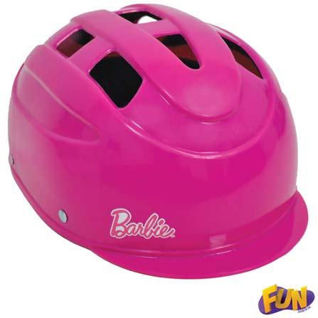 Patins Ajustáveis Barbie Tamanho 37 ao 40 com Acessórios - Fun, Plástico, 3 meses