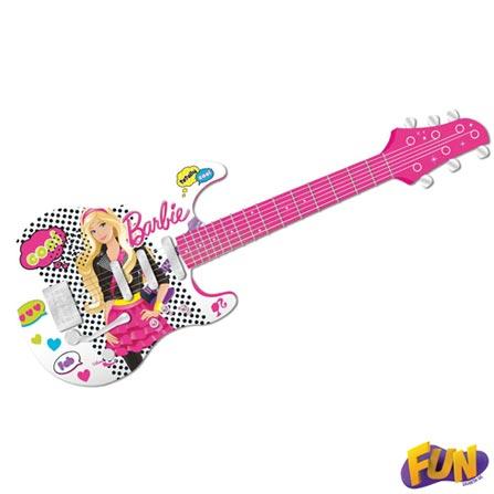 Guitarra Infantil Luxo Barbie Barão Toys Fun – 72162, BQ