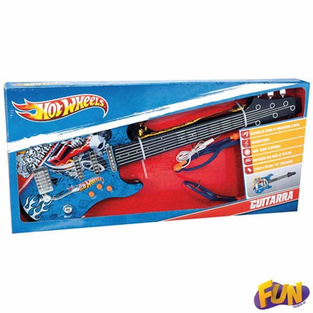 Guitarra Infantil Luxo Hot Wheels – Fun, BQ, ABS, 03 meses