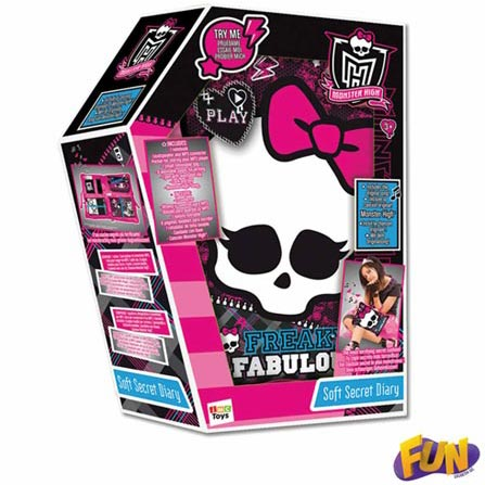 Travesseiro com Diário Secreto Monster High, BQ, 3 meses