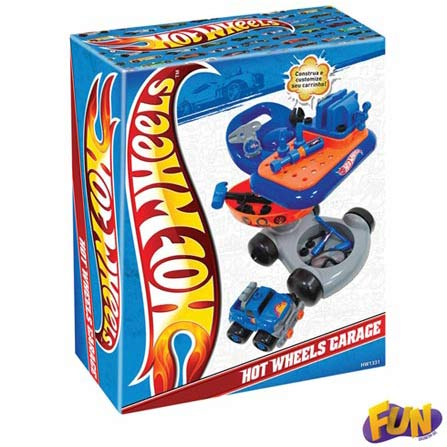 Garage Hot Wheels – Fun, BQ, ABS, 3 meses