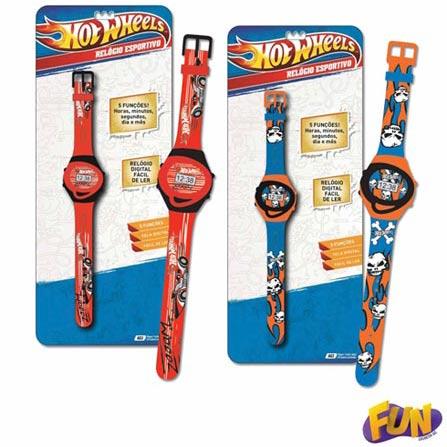 Relógio Esportivo Hot Wheels Barão Toys Fun – 73479