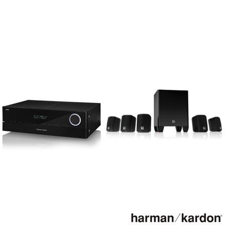 Conjuntos de Caixas de Som + Receiver Harman Kardon com 5.1 canais, 375 W - HK5000 + Blu-Ray Player Samsung 3D - BDF5500, 0