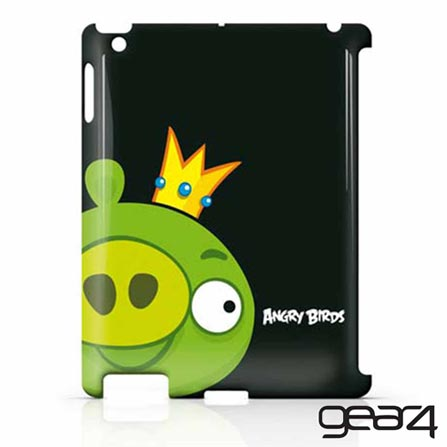 Capa para iPad 2, 3 e 4 Angry Birds (Pig King) para Usar Junto com Smart Cover - Gear4, Preto