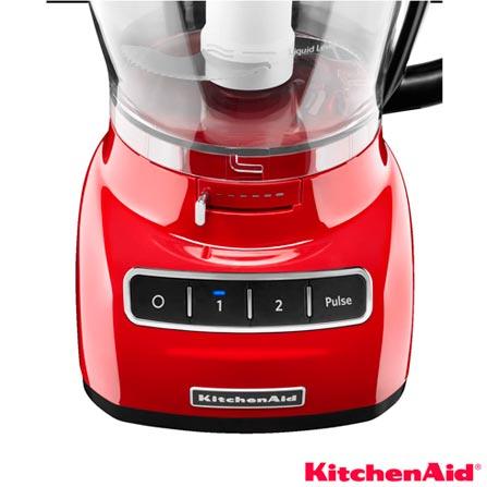 Multiprocessador Kitchenaid 2 Velocidades, Capacidade de 3,5 Litros - KJA13AVANA, 110V, Não se aplica, 02, 1 Litro e 3,5 Litros, 280 W