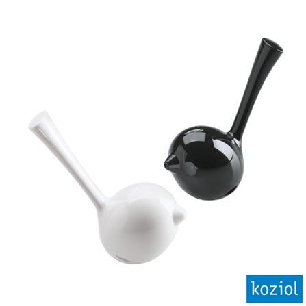 Saleiro e Pimenteiro Shaker Koziol Branco/Preto - 3107003