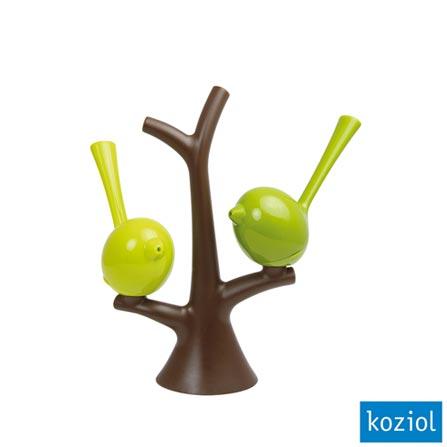 Saleiro e Pimenteiro Shaker com Árvore Koziol Marrom - 3108578