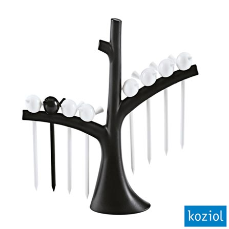 Jogo de Palitos com Árvore PIP Koziol Preto/Branco - 3123101