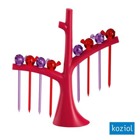 Jogo de Palitos com Árvore PIP Koziol Framboesa - 3123102