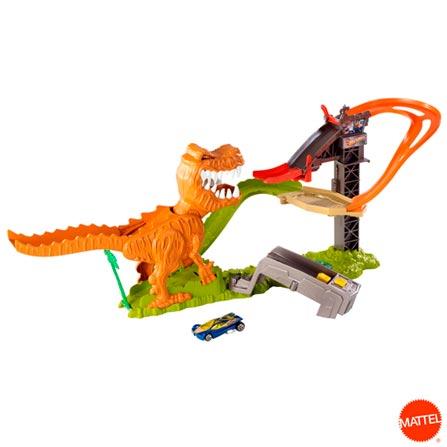 Pista Ataque do T-Rex Hot Wheels - Mattel, BQ, Plástico, 03 meses