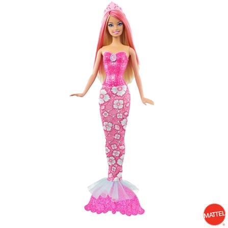 Barbie Sereia Mix Match Rosa - Mattel, BQ, Plástico, 03 meses