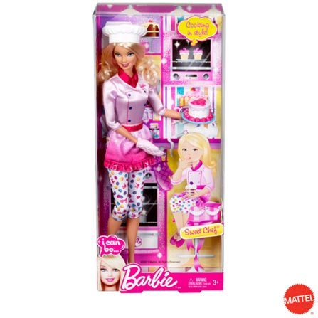 Barbie Quero Ser Confeiteira – Mattel, BQ, Plástico, 3 meses