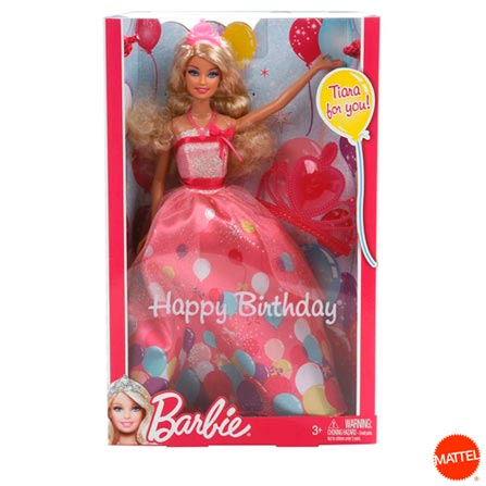 Barbie Fairy Aniversário Princesa – Mattel, BQ, Plástico, 03 meses